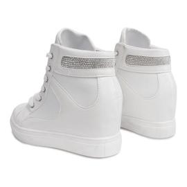 Sneakersy Na Koturnie A-35 Biały białe 4