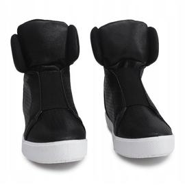 Sneakersy Na Koturnie TL088-5 Czarny czarne 4