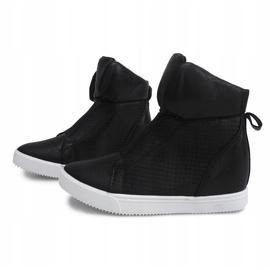 Sneakersy Na Koturnie TL088-5 Czarny czarne 1