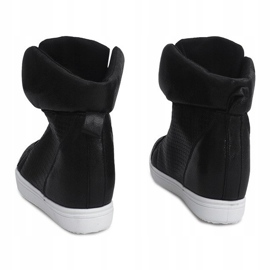 Sneakersy Na Koturnie TL088-5 Czarny czarne 2