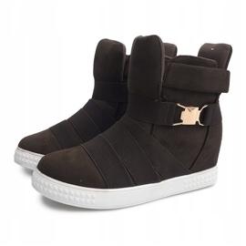 Sneakersy Na Koturnie 669 Oliwkowy wielokolorowe zielone 1