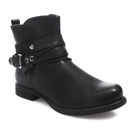 Ozdobione Botki 037-PA Czarny czarne 5