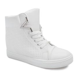 Sneakersy Na Koturnie 29332-2 Biały białe 1