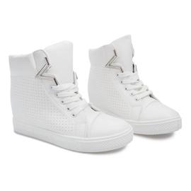 Sneakersy Na Koturnie 29332-2 Biały białe 2