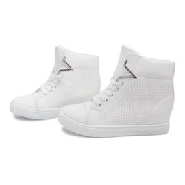 Sneakersy Na Koturnie 29332-2 Biały białe 3