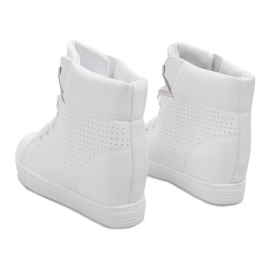 Sneakersy Na Koturnie 29332-2 Biały białe 4