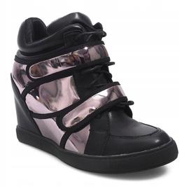 Sneakersy Na Koturnie R5060-4 Czarny czarne 3