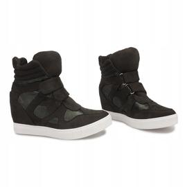 Sneakersy Na Koturnie FA147 Zielony zielone 2