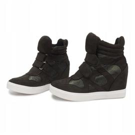Sneakersy Na Koturnie FA147 Zielony zielone 3