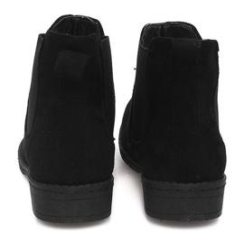Zamszowe Botki Sztyblety 7-K3520A Czarny czarne 2