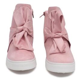Sneakersy Na Koturnie 1787 Różowy różowe 3