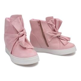 Sneakersy Na Koturnie 1787 Różowy różowe 4