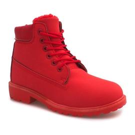 Ocieplane Timberki Trapery 8315-19 Czerwony czerwone 3