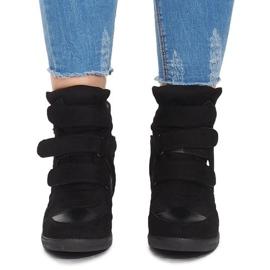 Sneakersy Na Koturnie BZ8386 Czarny czarne 1