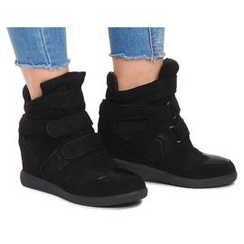 Sneakersy Na Koturnie BZ8386 Czarny czarne 2