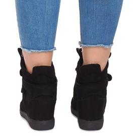 Sneakersy Na Koturnie BZ8386 Czarny czarne 3