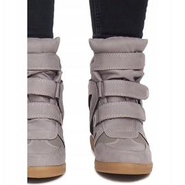 Sneakersy Na Koturnie BZ8386 Szary szare 1