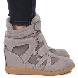 Sneakersy Na Koturnie BZ8386 Szary szare 2