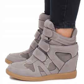Sneakersy Na Koturnie BZ8386 Szary szare 4