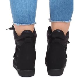 Sneakersy Na Koturnie 1628 Czarny czarne 3