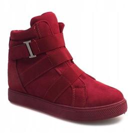 Sneakersy Na Gumki XY-297 Fushia różowe 1