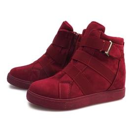 Sneakersy Na Gumki XY-297 Fushia różowe 2