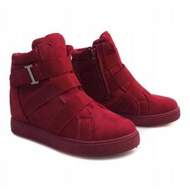 Sneakersy Na Gumki XY-297 Fushia różowe 3