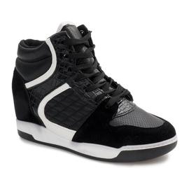 Sneakersy Na Koturnie R-78 Czarny czarne 1