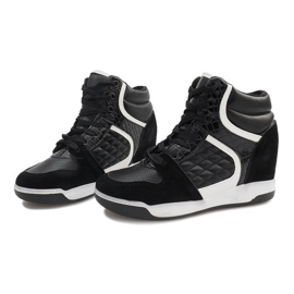 Sneakersy Na Koturnie R-78 Czarny czarne 3