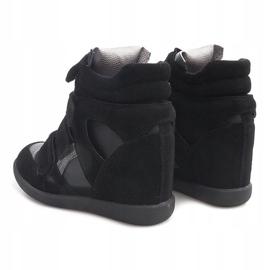 Sneakersy Na Koturnie R9686 Czarny czarne 3