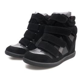 Sneakersy Na Koturnie R9686 Czarny czarne 5