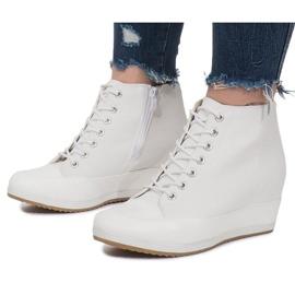 Białe Sneakersy Na Koturnie Capucine Material 1