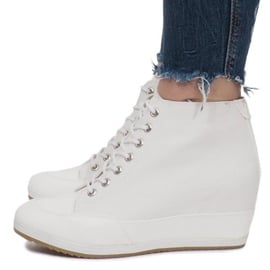 Białe Sneakersy Na Koturnie Capucine Material 3