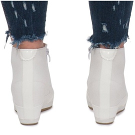 Białe Sneakersy Na Koturnie Capucine Material 4