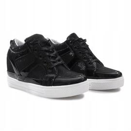 Czarne sneakersy na koturnie Lucienne 3