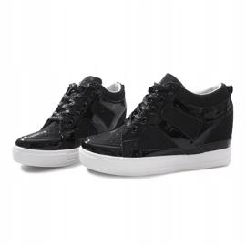 Czarne sneakersy na koturnie Lucienne 4
