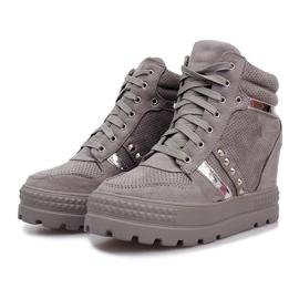Szare zamszowe sneakersy Maxime 1