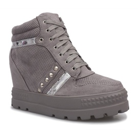 Szare zamszowe sneakersy Maxime 2