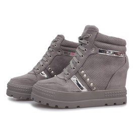 Szare zamszowe sneakersy Maxime 3