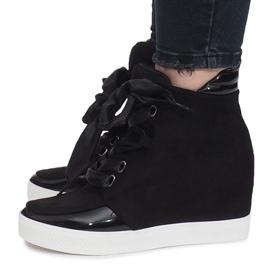 Czarne zamszowe sneakersy Nathalie 2