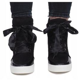 Czarne zamszowe sneakersy Nathalie 3