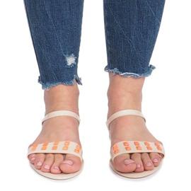 Beżowe sandały meliski Nuevo brązowe 1
