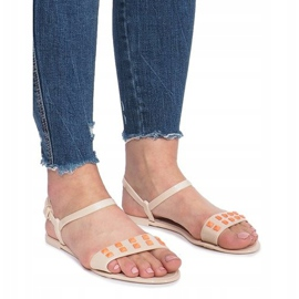 Beżowe sandały meliski Nuevo brązowe 2