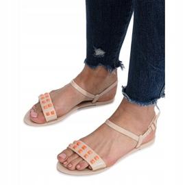 Beżowe sandały meliski Nuevo brązowe 3