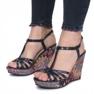 Niebieskie sandały na koturnie Ibrahim 1
