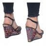 Niebieskie sandały na koturnie Ibrahim 2