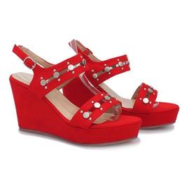 Czerwone sandały na koturnie Give it Up 2