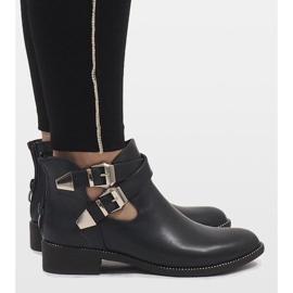 Ideal Shoes Granatowe otwarte botki Y8157 2