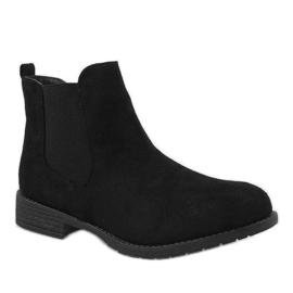 Kayla Shoes Czarne ocieplane botki DD1863-1 1