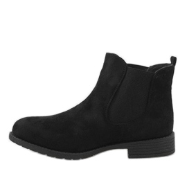 Kayla Shoes Czarne ocieplane botki DD1863-1 2